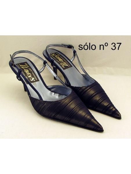 Zapatos de mujer de fiesta Color Azul con el talón abierto