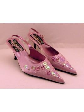 Zapato Mujer de Fiesta Color Rosa Talón Abierto
