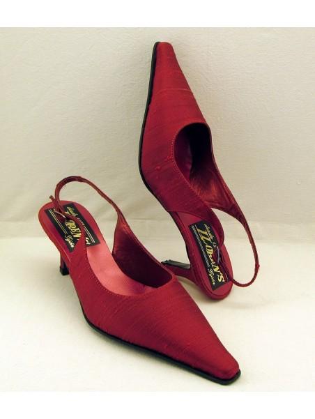 Zapato Mujer de Fiesta Raso Rojo