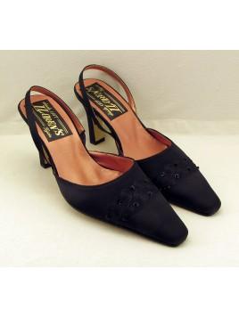 Zapato Mujer de Fiesta Raso Negro