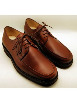 Zapato Cordón Mocasín Caoba Ancho Especial