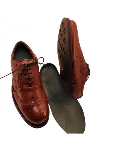 Zapato Cordón Oxford Color Cuero Impermeable