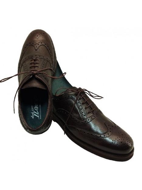 Zapato Cordón Oxford Color Marrón Impermeable
